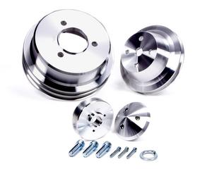 MARCH PERFORMANCE Aluminum BBC V-Belt High Water Flow Pulley Kit P/N 7115