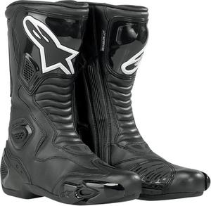 Alpinestars S-MX 5 Waterproof Street Riding Motorcycle Boots Black Mens Size 3.5