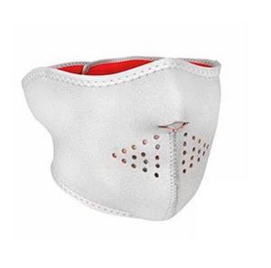 Zan Headgear Half Face Mask White/Hi-Vis Orange (White, OSFM)
