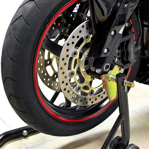 Venom Sport Bike Motorcycle Front Fork & Rear Paddle Combo Wheel Lift Stands Paddock Stands Universal Motorcycle Combo Yamaha Fits Honda Kawasaki Suzuki Ducati BMW