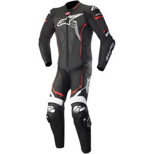 Alpinestars GP Plus One-Piece Leather Suit V2 Black/White/Red Fluo (Black, 52)