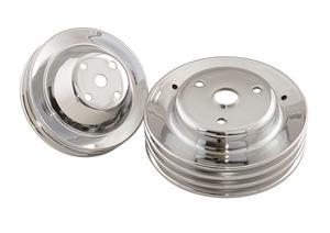 Mr. Gasket 4963 Chrome Plated Pulley Set
