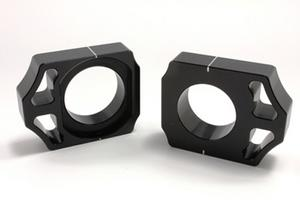 Works Connection Anodized Axle Blocks (Black) 17-137