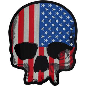 Lethal Threat LT30180 USA Flag Skull Embroidered Patch