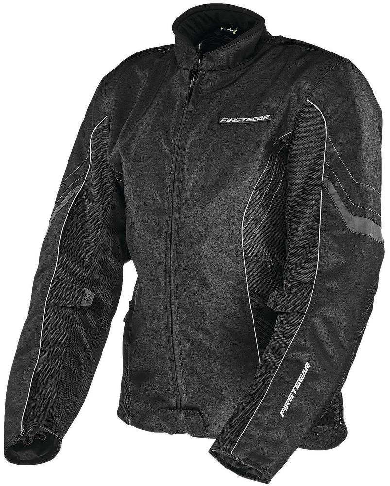 Firstgear Contour Womens Jacket (Black, Small)