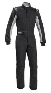 SPARCO Black/Gray Large 1 Piece Sprint RS-2 Driving Suit P/N 001040X356NRGR