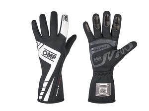 OMP Racing Medium Black Single Layer Driving Gloves P/N IB757ENM