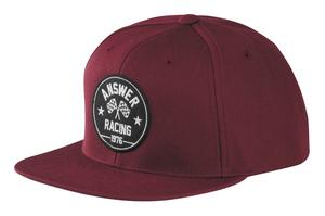 Answer Victory Snapback Hat Burgundy (Red, OSFM)