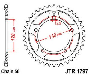 JT Sprockets Steel Rear Sprocket 41T 530 Pitch JTR1797.41