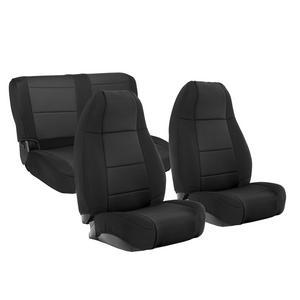 Smittybilt 471001 Neoprene Seat Cover Fits 76-90 CJ5 CJ7 Scrambler Wrangler