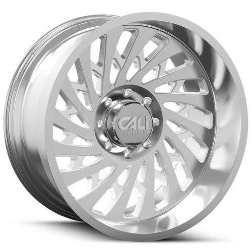 "4-Cali Off-Road 9108 Switchback 20x12 5x5.5"" -51mm Polished Wheels Rims 20"" Inch"