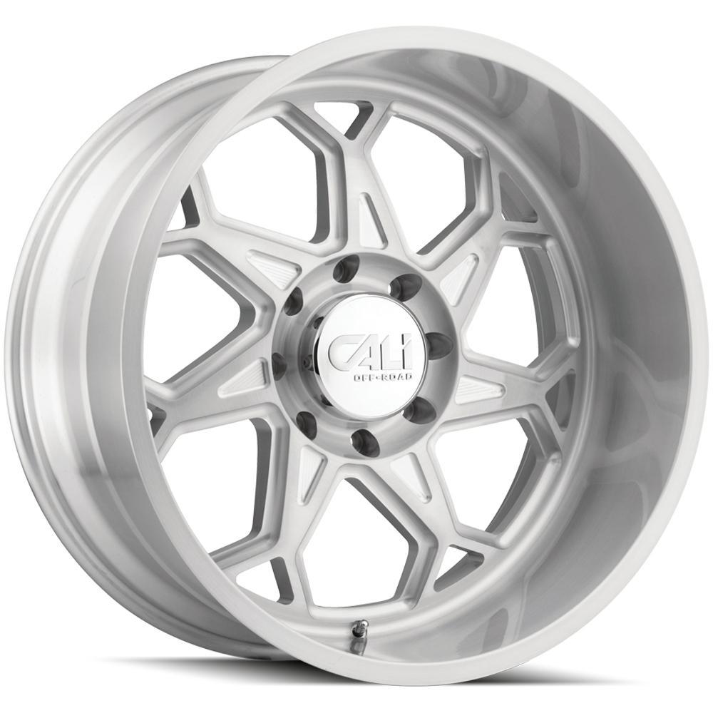 "4-Cali Off-Road 9111 Sevenfold 20x10 6x5.5"" -25mm Brushed Wheels Rims 20"" Inch"