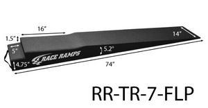 RACE RAMPS 74 in Long 7 in Lift Height Trailer Ramp 2 pc P/N RR-TR-7-FLP