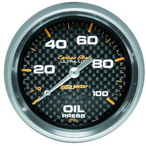 AutoMeter 4821 Carbon Fiber Mechanical Oil Pressure Gauge
