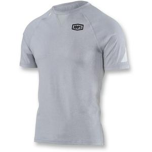 100% Tech Relay Tee Shirt Silver/Heather (Gray, X-Large)