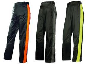 Olympia Mens Motorcycle New Horizon Rain Pants Neon Orange XS/S