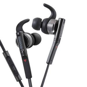 Kenwood KH-SR800-B Headphones In-Ear Sport with Microphone, Black