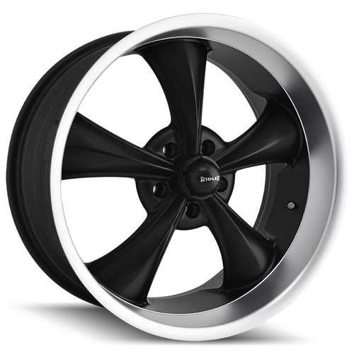 "Ridler 695 22x10.5 5x115 +18mm Matte Black Wheel Rim 22"" Inch"