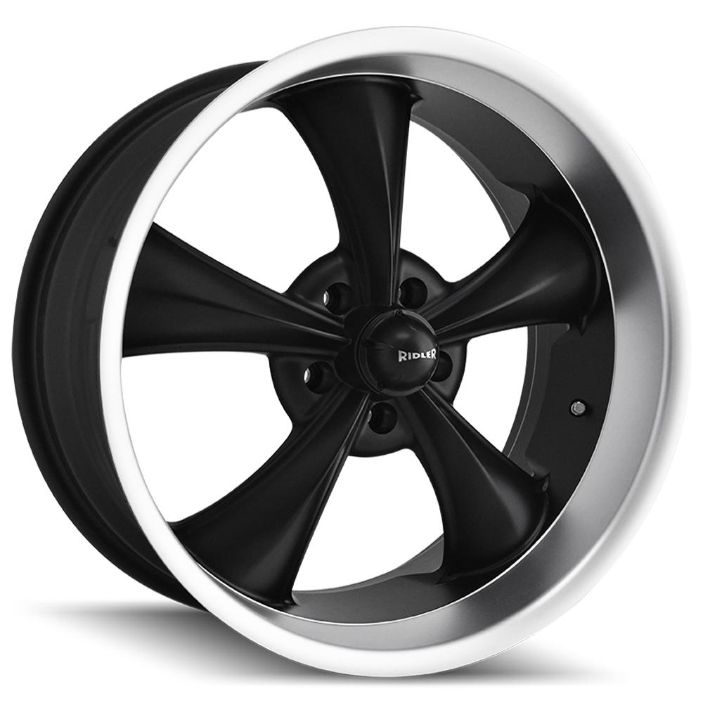 "Ridler 695 18x8 5x4.5"" +0mm Matte Black Wheel Rim 18"" Inch"