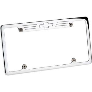 BILLET SPECIALTIES Bowtie Logo Polished License Plate Frame P/N 55623