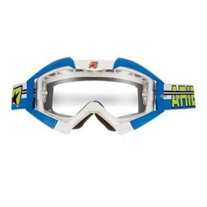 Ariete Riding Crows Top Collection Goggles White/Blue (White, OSFM)