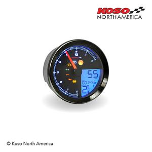 Koso TNT-B Black RPM Speedometer Gauge For Yamaha Bolt BA051310