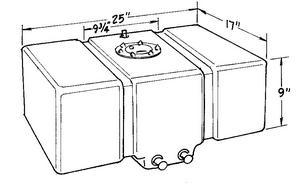JAZ Black Plastic 16 gal Drag Race Fuel Cell P/N 250-016-01