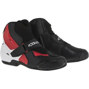 Alpinestars SMX-1R Vented Boots Vented Black/White/Red (Black, 9.5)