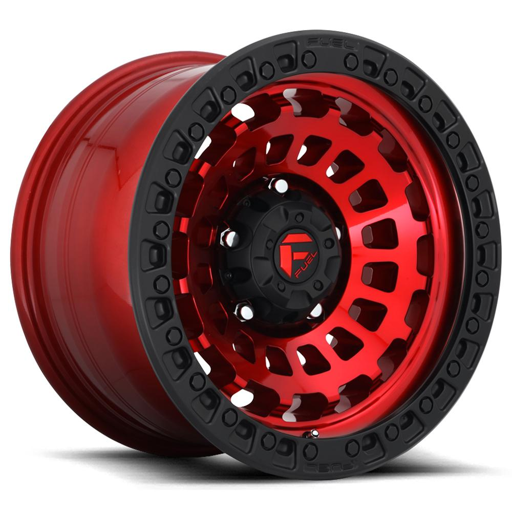 "Fuel D632 Zephyr 18x9 5x150 +1mm Red/Black Wheel Rim 18"" Inch"
