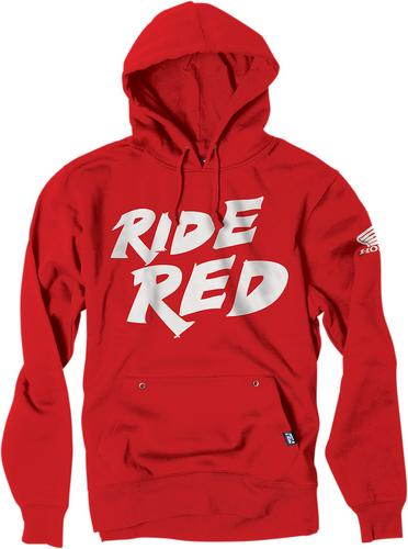 Factory Effex Licensed Honda Ride Red Pullover Hoodie Red Youth Size XL