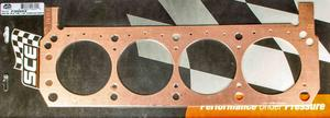 SCE GASKETS Small Block Ford Copper Cylinder Head Gasket 2 pc P/N P36158