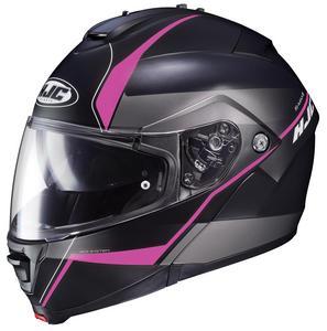 HJC IS-Max II Mine Helmet Semi-Flat Pink (MC-8SF) (Black, Small)