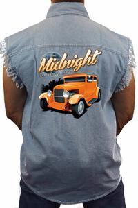 Men's Sleeveless Denim Shirt Midnight Immortality: LIGHT DENIM (3XL)