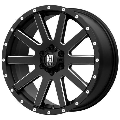 "4-XD Series XD818 Heist 18x8 5x5"" +35mm Black/Milled Wheels Rims 18"" Inch"