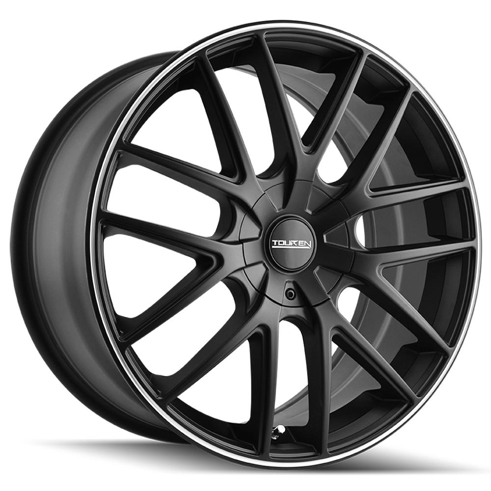 "Touren TR60 18x8 5x108/5x4.5"" +40mm Matte Black/Ring Wheel Rim 18"" Inch"