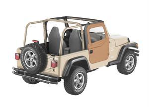 Bestop 2-piece Full Fabric Doors - Jeep 1997-2006 Wrangler