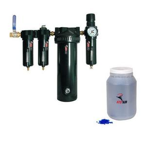 ATD Tools COMBO: 5-Stage Desiccant Air Drying System w/ 1 Gallon of Replacement