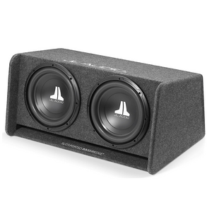 """BassWedge Slot-Ported Enclosure With Two 12"""" W0v3 Car Subwoofers"""