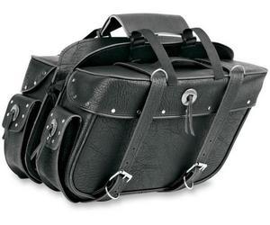 All American Rider 9698RP Extra-Large Box-Style Detachable Slant Saddlebag - Rivet