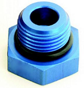 A-1 Products 6 AN Blue Aluminum Hex Head Plug P/N 81406
