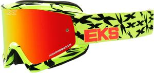 EKS Adult MX ATV Scatter Goggles Yellow/Black With Mirror Lens