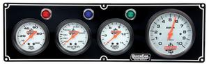 QUICKCAR RACING PRODUCTS White Face Gauge Panel Assembly P/N 61-67423
