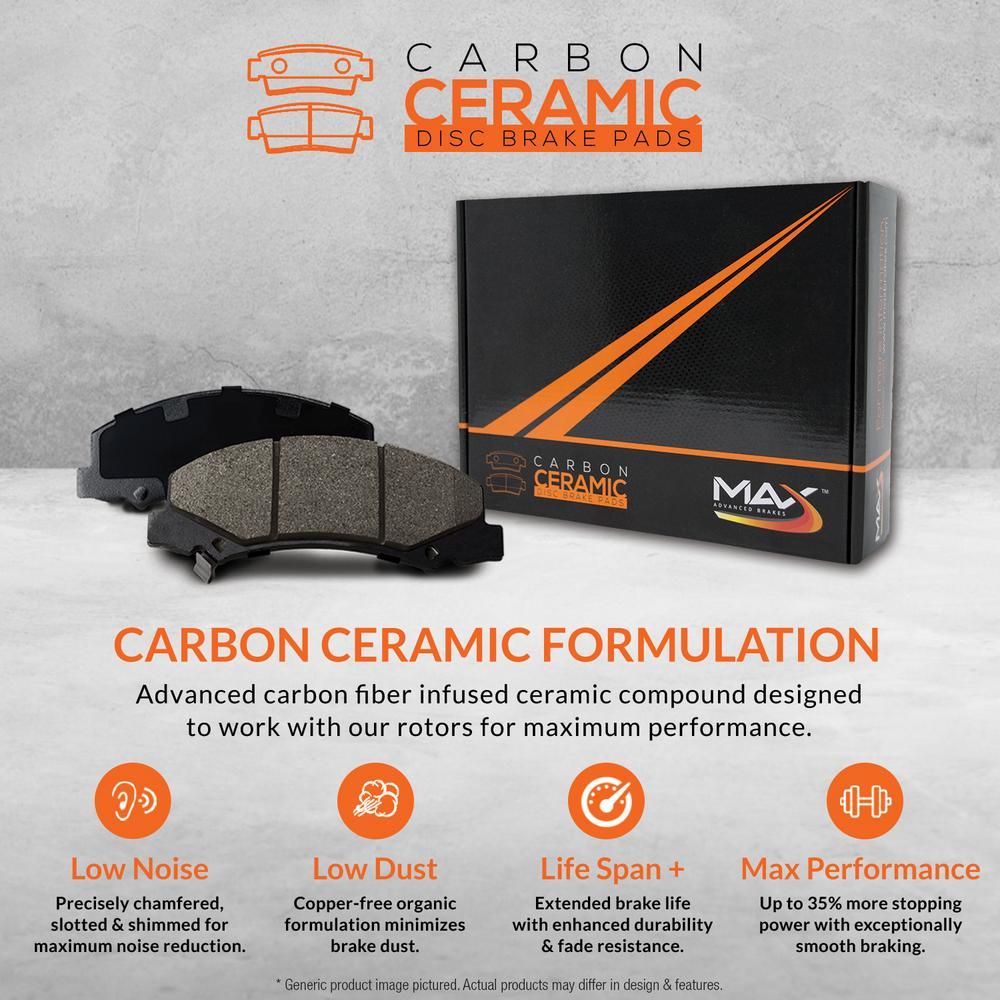 Max Brakes Rear Premium Brake Kit [ OE Series Rotors + Ceramic Pads ]  KT169242 Fits: 2007 - 2011 Mercedes Benz CLS550   2003 - 2005 E320   2006 -  2016