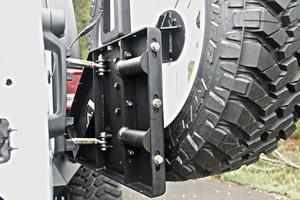 Fab Fours JP-Y1261T-1 Off The Door Tire Carrier Fits 07-18 Wrangler (JK)