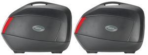GIVI Dual Sport Adventure 34 Liter Side Storage Cases Black/Red (Pair) V35NA