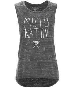 Fly Racing Moto Nation Muscle Womens T-Shirt Black Marble (Black, Large)