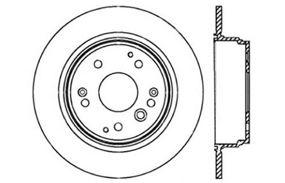 Stoptech 127 40061l Stoptech Sport Rotor Fits 03 11 Element Tl
