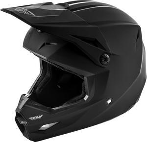 Fly Racing Elite Solid Youth Helmet Matte Black (Black, Large)