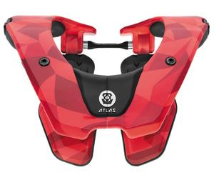 Atlas Tyke Youth Neck Brace Fire Prism Red (Red, 24-28in.)