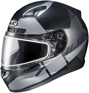 HJC CL-17 Boost Snow Helmet with Dual Lens Shield Semi-Flat Black (MC-5SF) (Silver, Large)